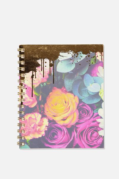 A5 Campus Notebook, PEONY FLOWER