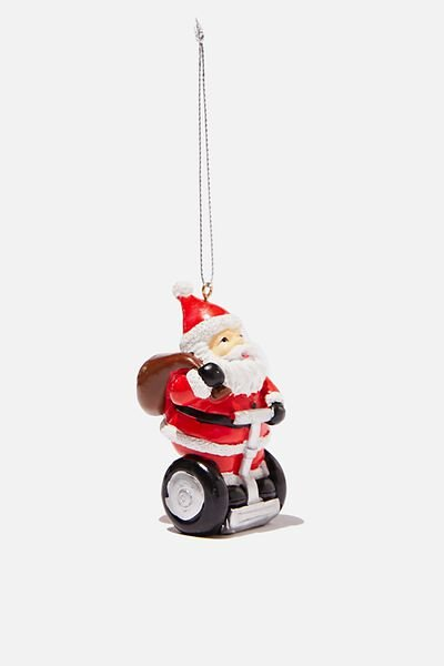 Resin Christmas Ornament, SEGWAY SANTA
