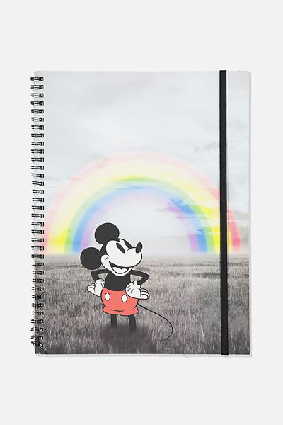 A4 Spinout Notebook Recycled, LCN DIS PD MICKEY RAINBOW