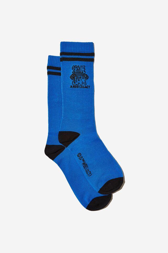 Space Jam Socks, LCN WB BLUE SPACE JAM LOGO