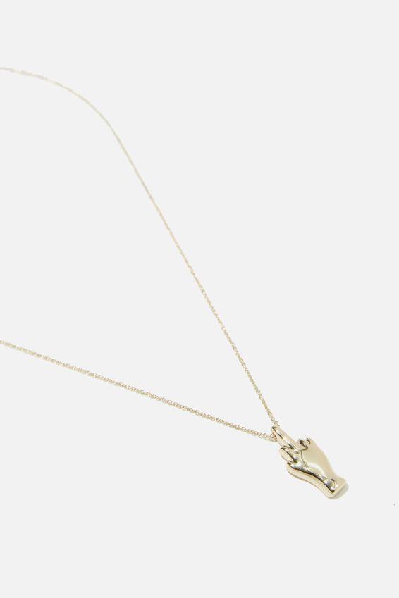 Novelty Necklace, RUDE FINGER!