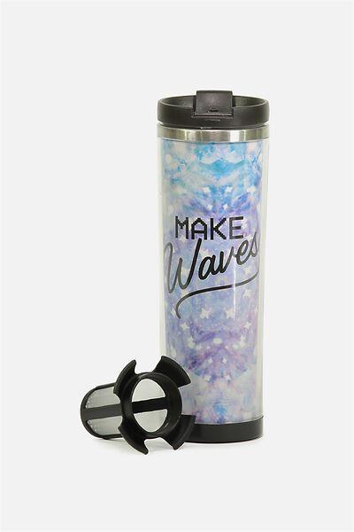 Tea-Riffic Travel Mug, MAKE WAVES