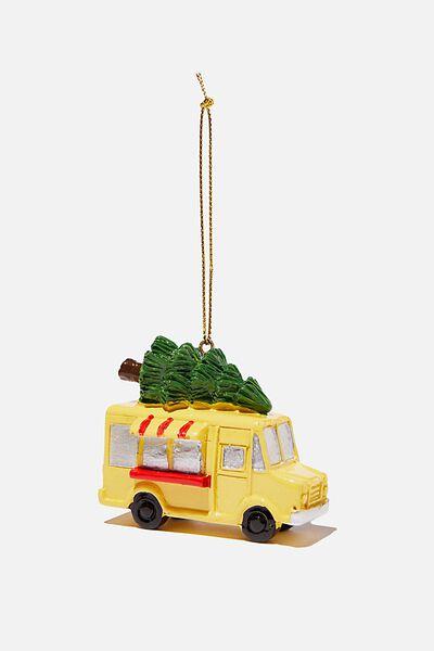 Resin Christmas Ornament, FOOD TRUCK