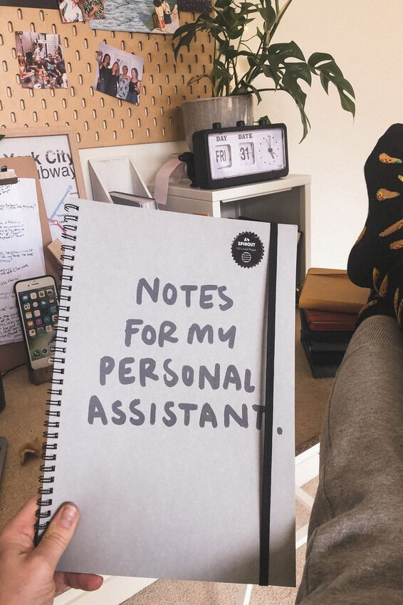 A4 Spinout Notebook Recycled, PERSONAL ASSISTANT