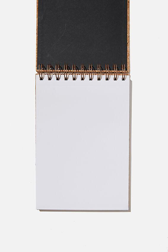 A5 Spiral Sketch Book, NATURAL CORK
