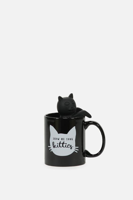 Mug & Tea Infuser Set, CAT