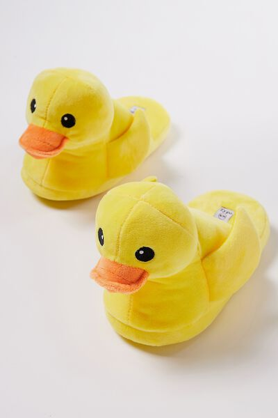 Novelty Slippers, RUBBER DUCKY