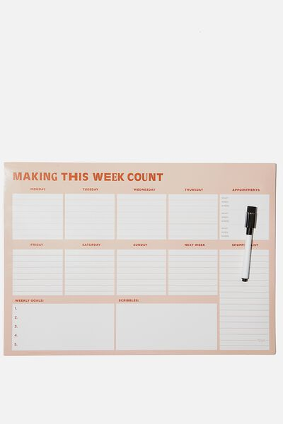 A3 Extra Large Magnetic Planner, MAKING THIS WEEK COUNT