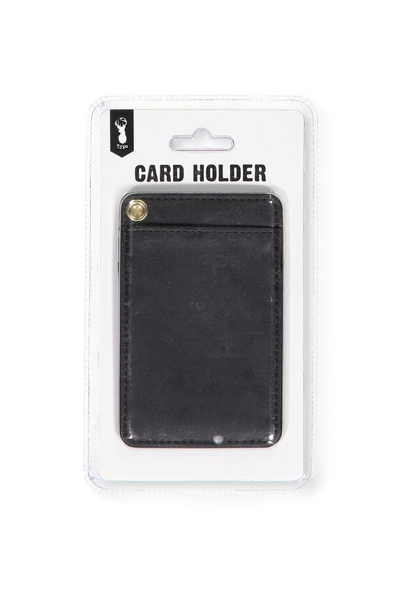 Printed Card Holder, BLACK