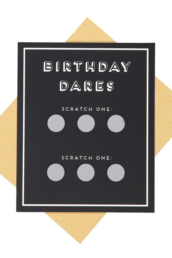 Premium Funny Birthday Card, SCRATCHY BIRTHDAY DARE