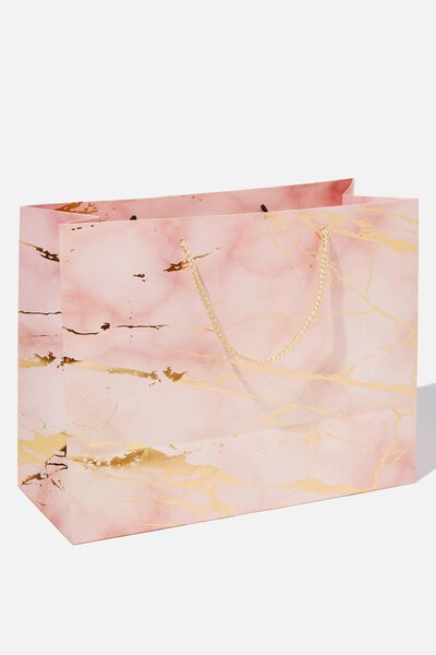 Stuff It Gift Bag - Medium, MARBLE PINK GOLD