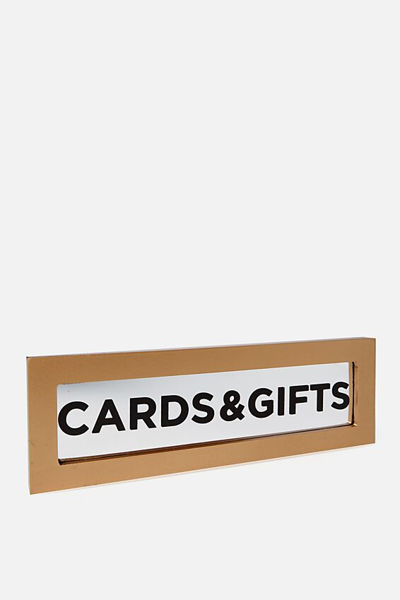 Card + Gift Sign, MIRROR