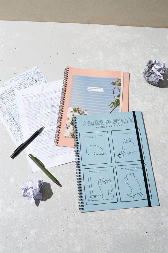 A4 Spinout Notebook Recycled, GUIDE TO MY LIFE