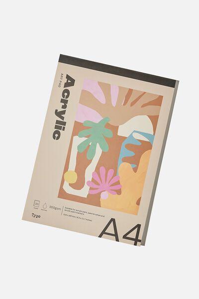 The A4 Art Pad, ACRYLIC