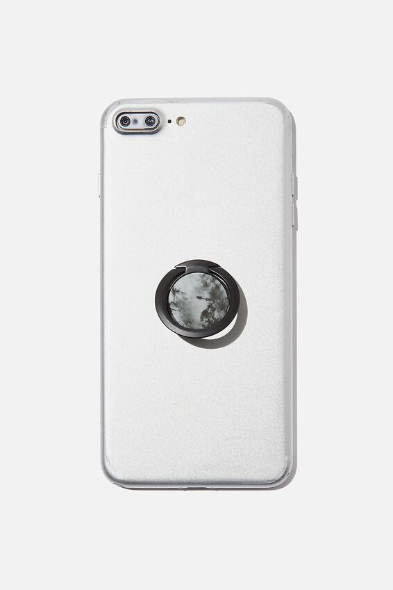 Ultra Thin Phone Ring, BLACK & WHITE TIE DYES