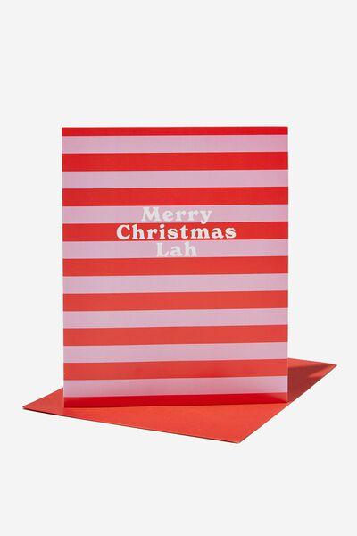 Christmas Card 2021, RG ASIA CHRISTMAS LAH PINK STRIPE