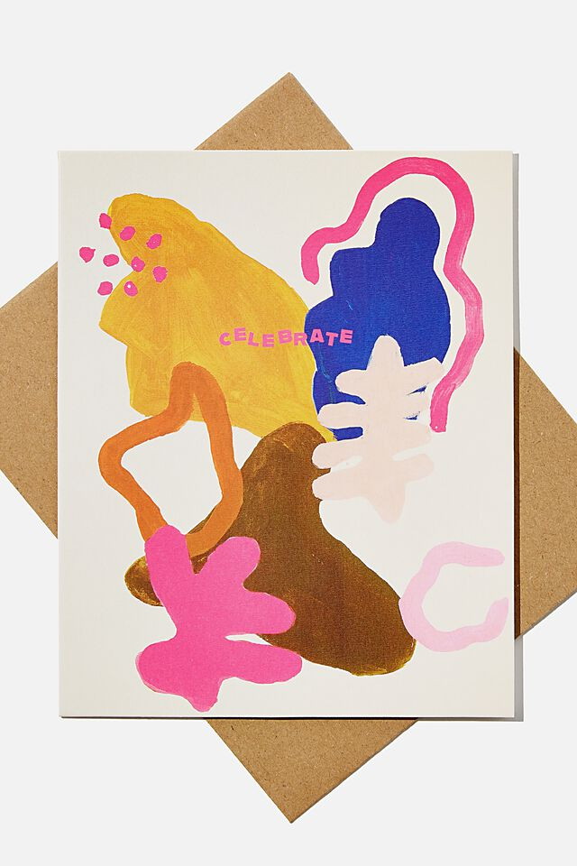 Nice Birthday Card, CELEBRATE ABSTRACT PRINT