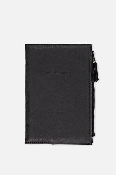 Travel Zip Journal, BLACK