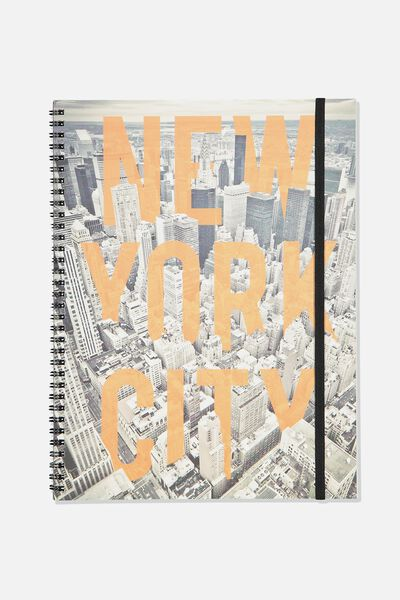 A4 Spinout Notebook - 120 Pages, NEW YORK CITY