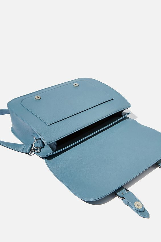 Milton Satchel Bag, PETROL BLUE
