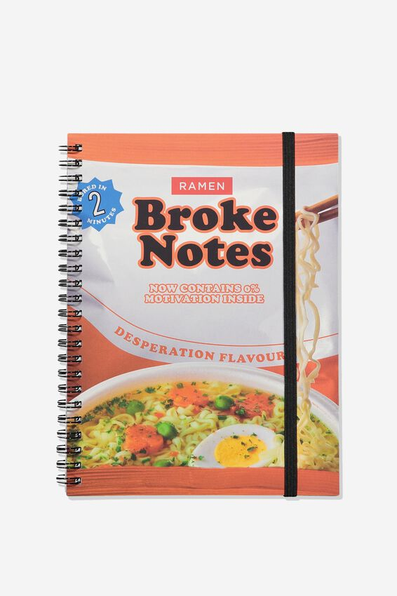 Small Spinout Notebook - V, BROKE NOTES NOODLES