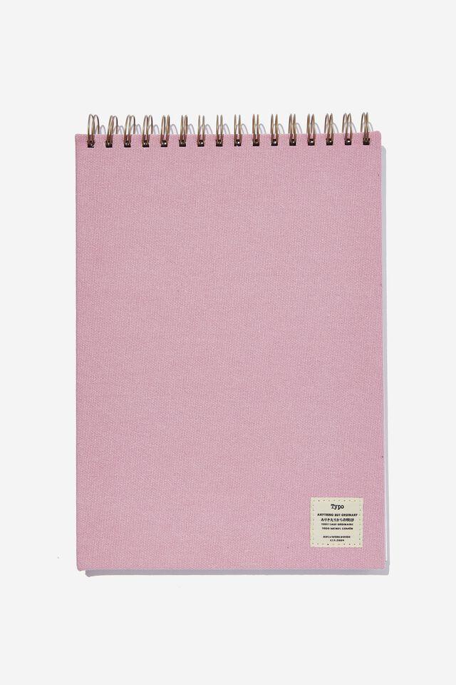 A4 Spiral Sketch Book, DUSTY LILAC