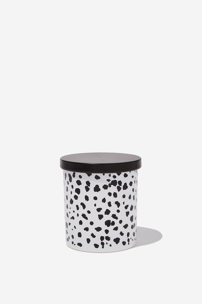 Premium Candle, BLACK & WHITE POLKA