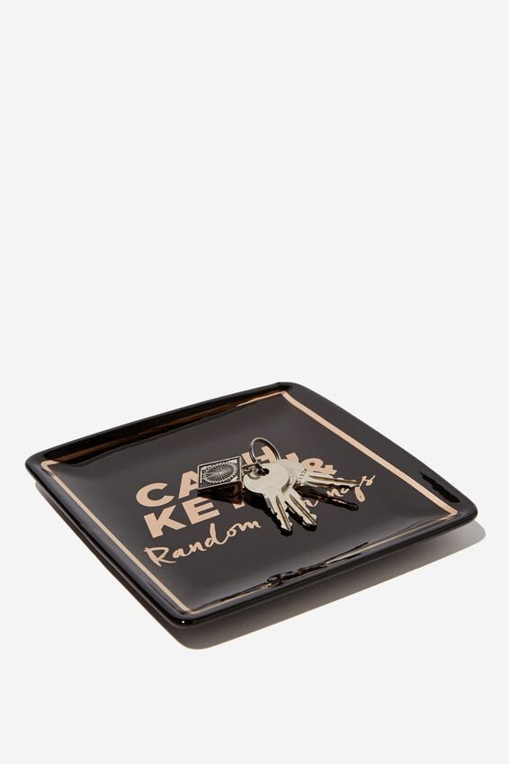 Novelty Trinket Tray, CASH & KEYS
