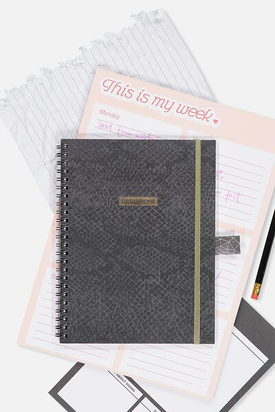 A5 Spinout Notebook - 120 Pages, GET IT DONE LACE