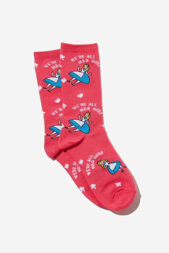 Womens Novelty Socks, LCN DIS ALICE
