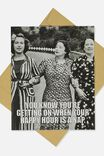 Funny Birthday Card, HAPPY HOUR IS A NAP RETRO