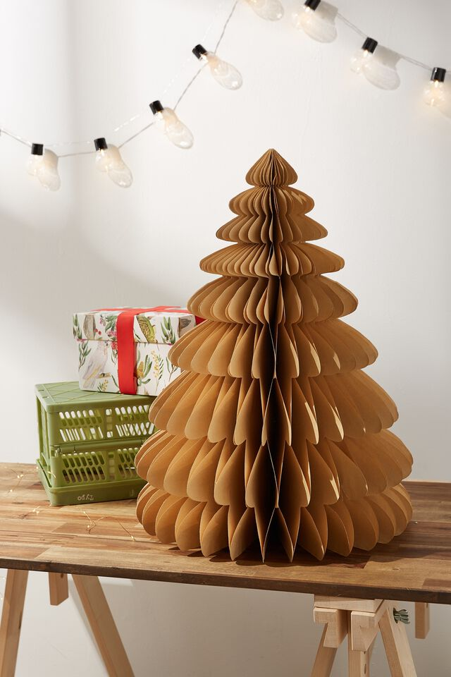 Paper Christmas Tree Large, KRAFT