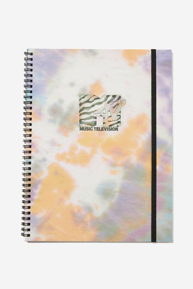 A4 MTV Spinout Notebook Recycled, LCN MTV TIE DYE