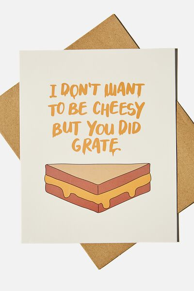 Congratulations Card, YOU DID GRATE CHEESY PUN