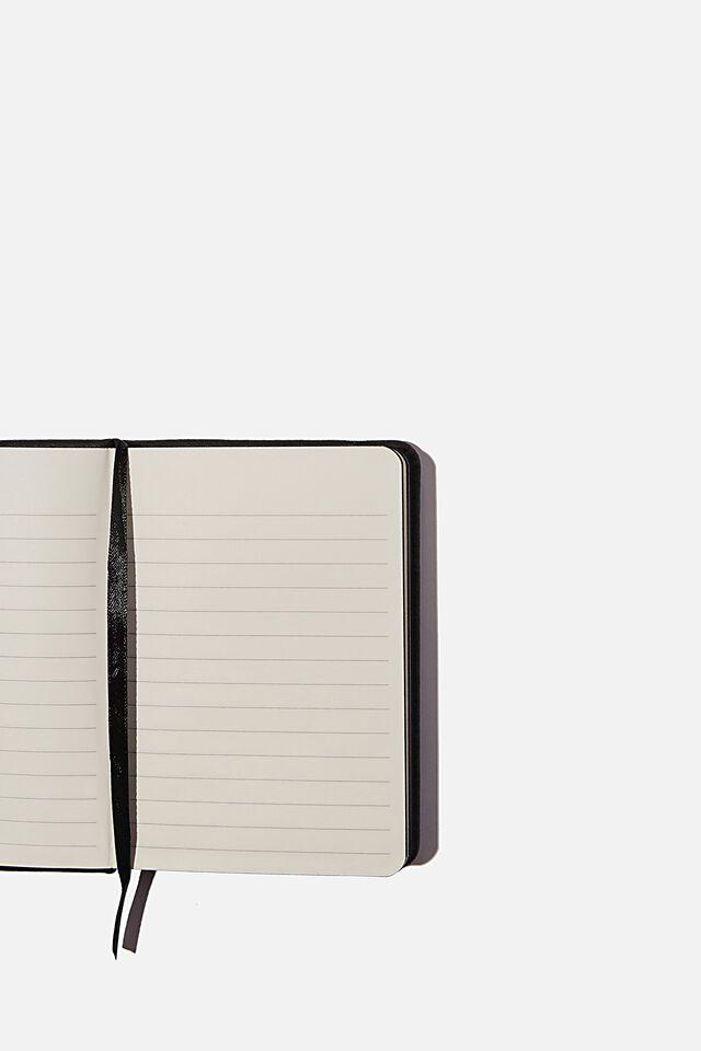 "A6 Buffalo Journal (5.8"" x 4.1""), JET BLACK"