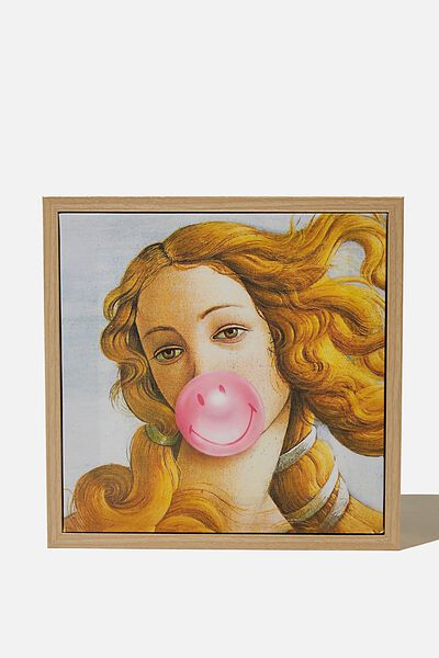 24 X 24 Mini Canvas Art, LCN SMILEY BUBBLEGUM