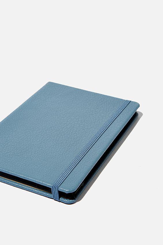 A5 Dot Buffalo Journal, PETROL BLUE