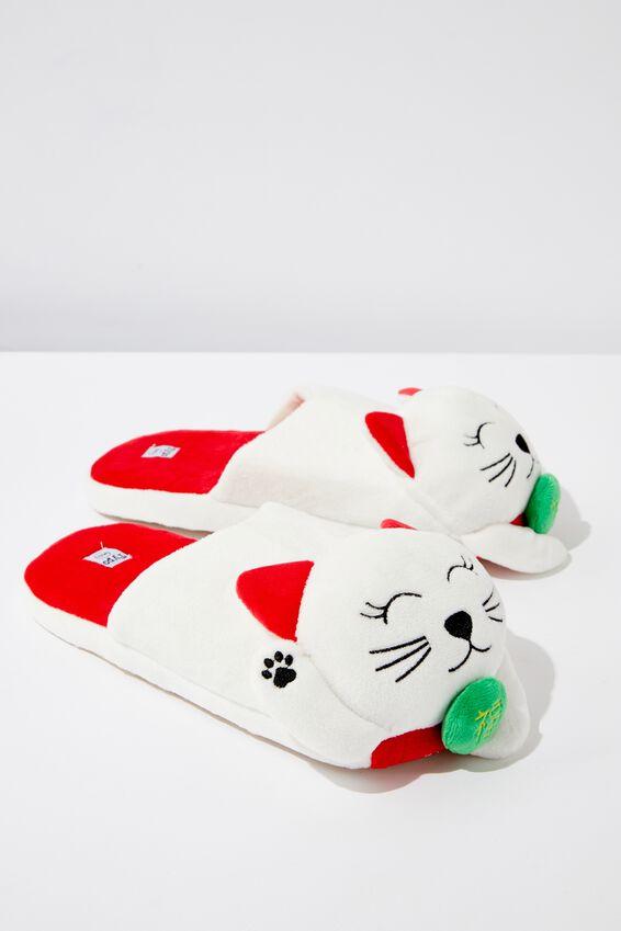 Novelty Slippers, LUCKY CAT