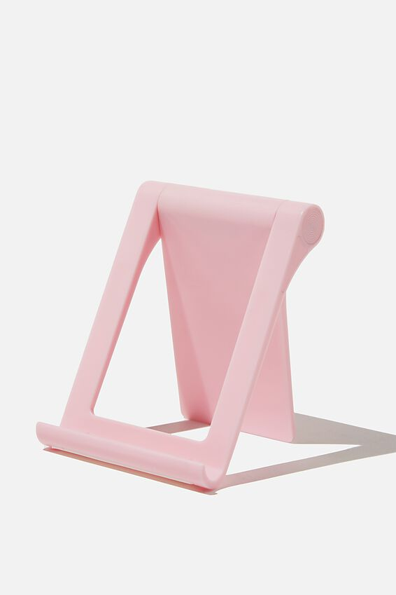 Collapsible Phone Stand, PLASTIC PINK