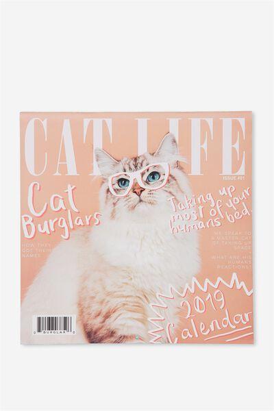 2019 Square Calendar, CAT LIFE