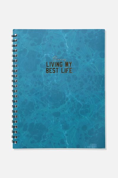 A4 Campus Notebook, EMERALD MARBLE BEST LIFE