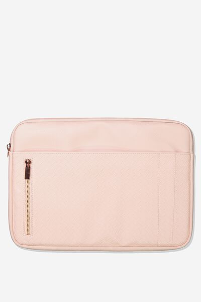 Take Charge Laptop Cover 13 inch, BLUSH WEAVE