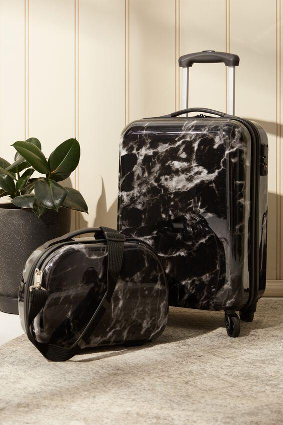 Tsa Small Suitcase, BLACK MARBLE