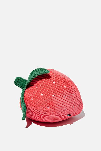 Get Cushy Cushion, CORDUROY STRAWBERRY