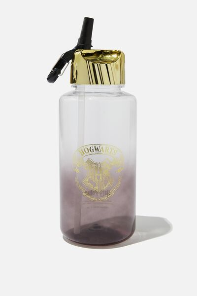 Suck It Up Drink Bottle, LCN WB HOGWARTS CREST GOLD