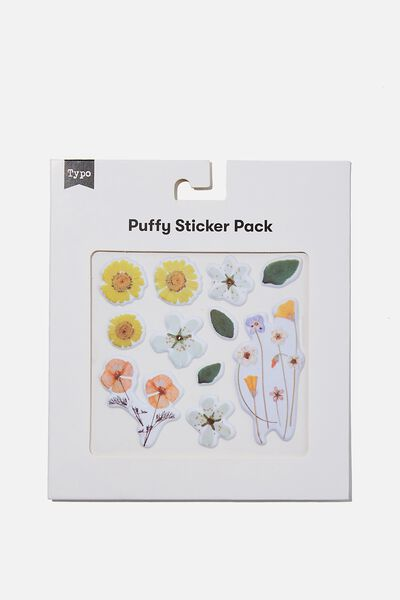 Puffy Sticker Pack, FLOWERS