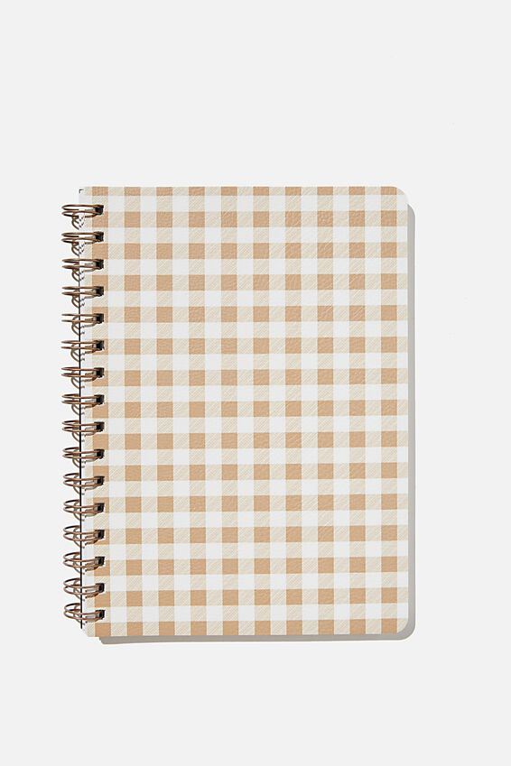 A5 Dot Daily Scribe Notebook, DRIFTWOOD GINGHAM