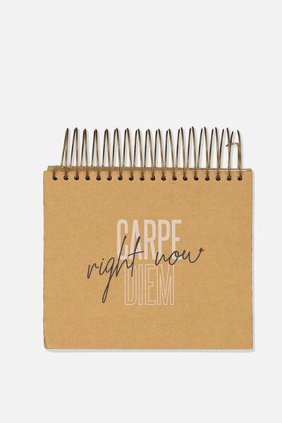 Big Ideas Notepad, CARPE DIEM BABY