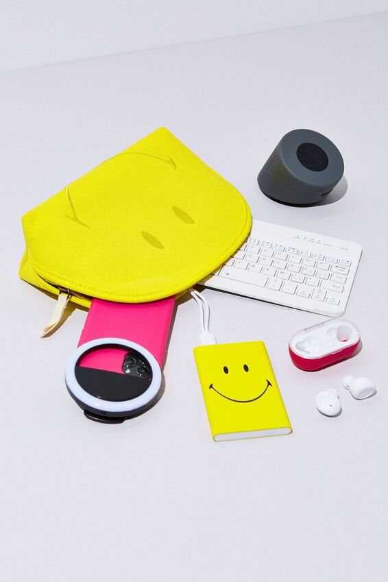 Printed Charge It Charger, LCN SMILEY YELLOW FACE