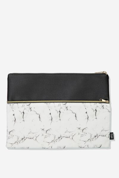 Big Bro Pencil Case, WHITE MARBLE